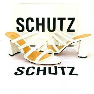 Schutz Felisa Croco Tubular Pattern Sandal Size 9M